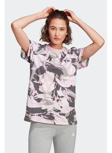 adidas Adidas Kadın Günlük T-Shirt W Camo T Gl7587 Renkli